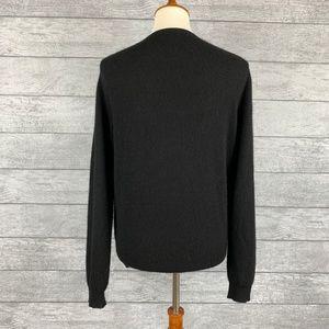 Charter Club Sweaters - Classic Black 100% Cashmere Crew Neck Cardigan L